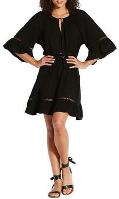 Seafolly Bell-Sleeve Flounce Coverup Dress