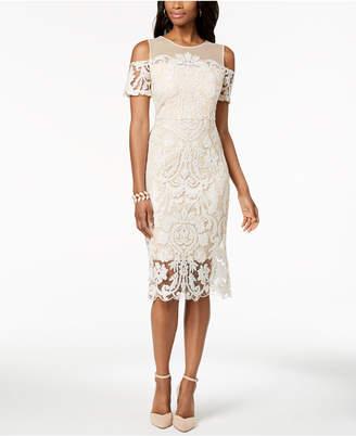Jax Embroidered Cold-Shoulder Dress