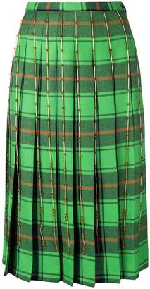 Marco De Vincenzo pleated check skirt