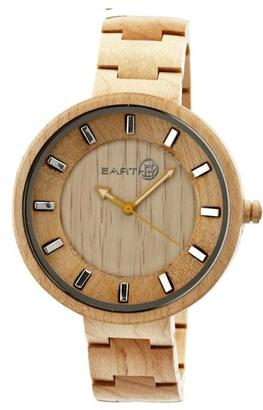 Earth Branch Collection ETHEW2801 Unisex Wood Watch with Wood Bracelet-Style Band $200 thestylecure.com
