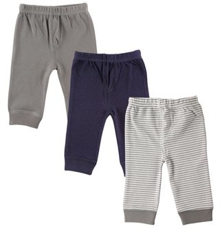 Luvable Friends Toddler Boy Tapered Pants, 3-pack