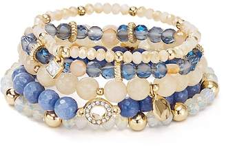 Free Shipping 150 At Bloomingdale S Aqua Beaded Stretch Bracelets Set Of 5 100 Exclusive
