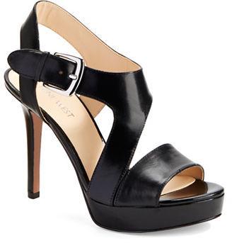 Nine WestNine West SayNoMore Leather Platform Sandals