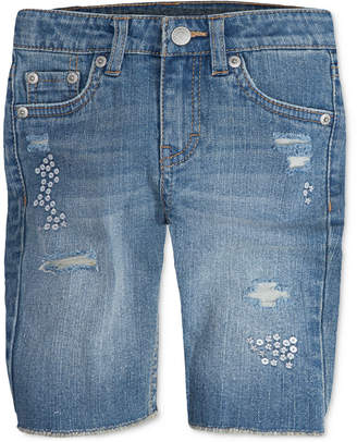 Levi's Sequin Seaside Bermuda Shorts, Little Girls