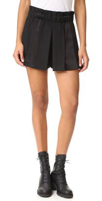 DKNY Pull On Paneled Shorts $298 thestylecure.com
