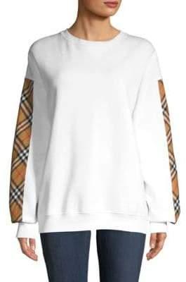 Burberry Camilla Satin Panel Sweatshirt