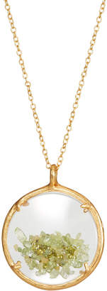 Catherine Weitzman Shaker Birthstone Pendant Necklace, August