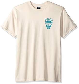 Obey Men's Eagle Shield Heavyweight Crewneck T-Shirt