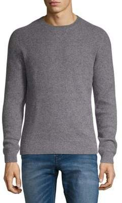 Black & Brown Black Brown Crewneck Waffle-Knit Cashmere Sweater