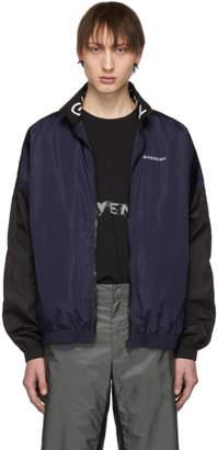 Givenchy Black and Navy Nylon Jogger Jacket