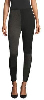 Eileen Fisher The Color Block Collection Wool Leggings