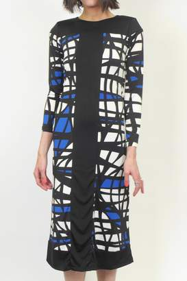 Analili Abstract Sheath Dress