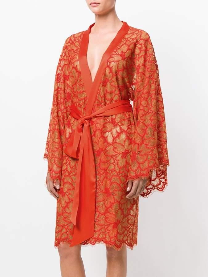 dolci follie kimono mit spitze slips. Black Bedroom Furniture Sets. Home Design Ideas