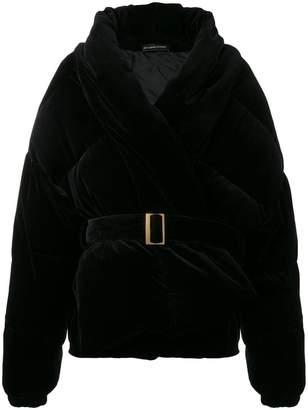 Alexandre Vauthier belted velvet puffer jacket