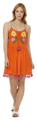 F&F Embellished Tassel Trim Beach Dress
