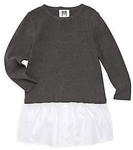 Milly Little Girl's& Girl's Mixed Media Dress