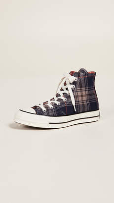 Converse Chuck 70 Plaid High Top Sneakers