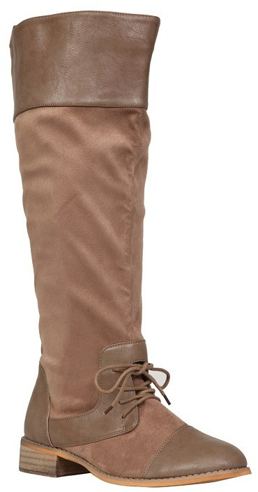 Tan Oxford Boots (Wide Width)