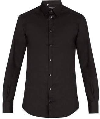 Dolce & Gabbana Johnny Cotton Blend Shirt - Mens - Black