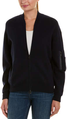 Autumn Cashmere Cashmere & Wool-Blend Bomber Jacket