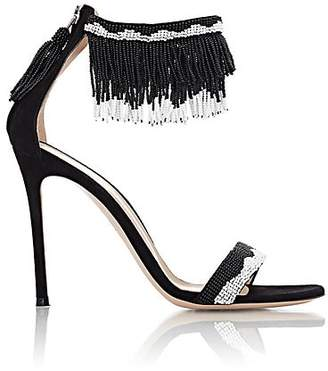 Gianvito Rossi Women's Beaded Ankle-Cuff Sandals - Black