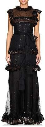 Valentino Women's Sequined Silk Organza Gown
