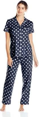 Nautica Sleepwear Women's Knit Pant Pajama Set
