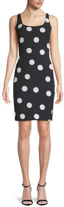 Karl Lagerfeld Polka-Dot Sheath Dress