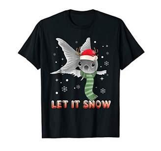 Let It Snow Gold Fish Christmas T-Shirt Women Girl Xmas Gift