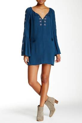 Love Stitch Long Sleeve Tunic Dress