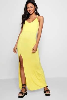 boohoo Strappy Back Maxi Dress