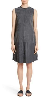 Fabiana Filippi Suede & Crinkled Leather Dress