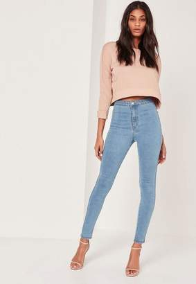 Missguided Highwaisted Skinny Jeans Blue