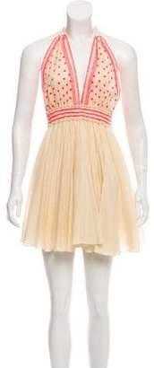 LoveShackFancy Halter Mini Dress w/ Tags