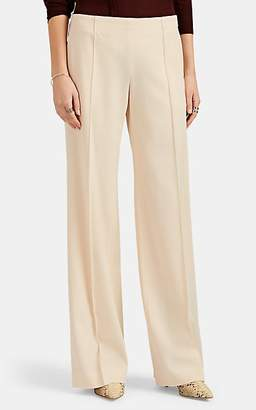 Chloé Women's Wool Twill Wide-Leg Trousers - Sand