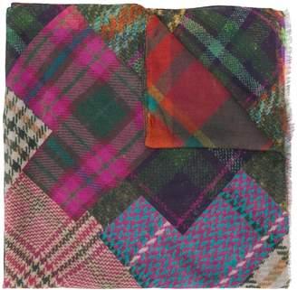 Etro tartan cashmere scarf