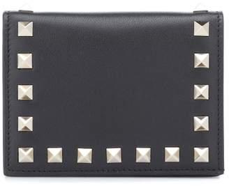 Valentino (ヴァレンティノ) - Valentino Garavani Rockstud leather wallet