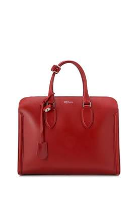 Alexander McQueen Burgundy Leather Handbag