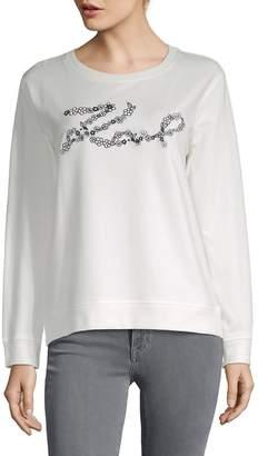 Karl Lagerfeld Women's Flower Sweatshirt