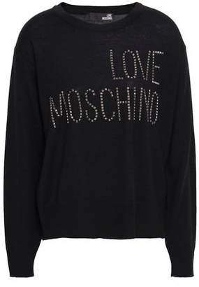 e100a64b30b Love Moschino Black Women's Sweaters - ShopStyle