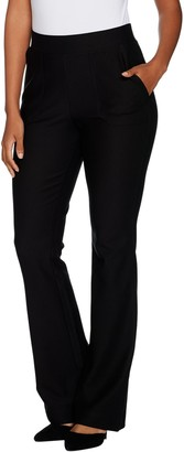 Lisa Rinna Collection Pull On Boot Cut Pants with Pockets