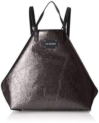 Borsa Soft Nappa Pu Nero, Womens Backpack Handbag, Black, 11x30x28 cm (B x H T) Love Moschino