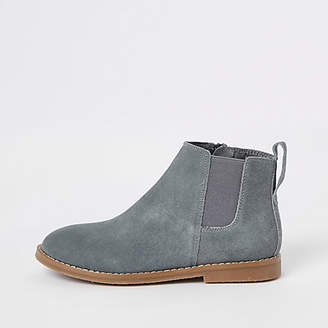 River Island Boys grey suede chelsea boots