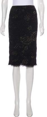 Christian Lacroix Metallic Knee-Length Skirt