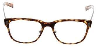 Christian Dior Tortoiseshell Blacktie Eyeglasses