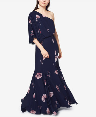 Fame and Partners One-Shoulder Floral-Print Gown $279 thestylecure.com