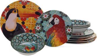 Certified International Paradise Melamine 12-Pc. Dinnerware Set, Service for 4