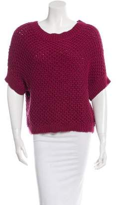Elizabeth and James Cropped Wide Knit Sweater