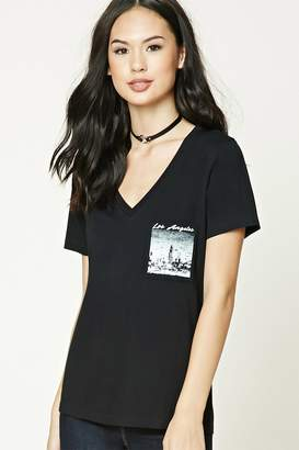 Forever 21 Los Angeles Graphic V-Neck Tee