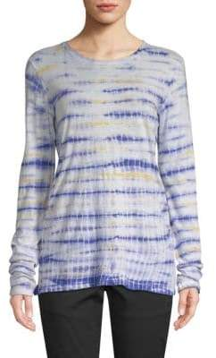 Proenza Schouler Tie-Dyed Long-Sleeve Cotton Tee